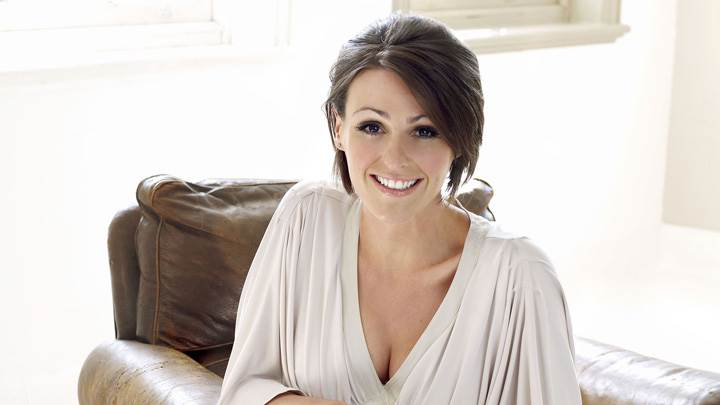Suranne Jones Smiling N Looking Front At Mike Owen Photoshoot