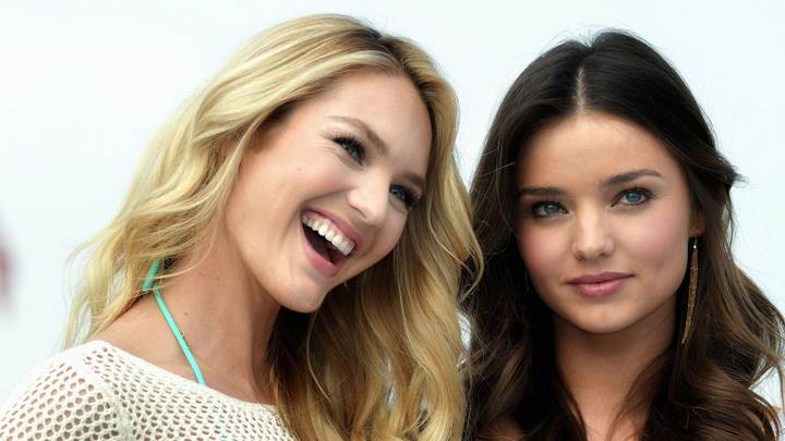 Sweet Pose Of Miranda Kerr N Candice Swanepoel At Victoria's Secret SWIM Collection