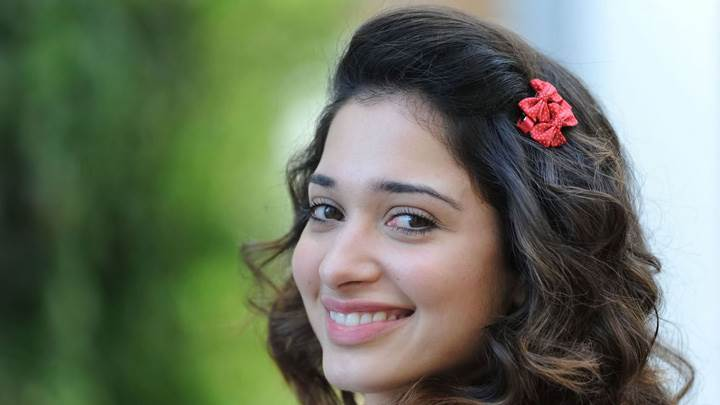 Tamanna Bhatia Looking Back Cute Smiling Phtoshoot