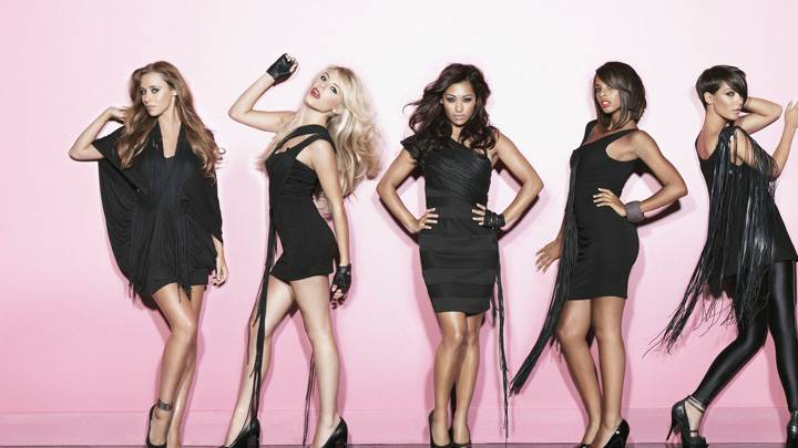 The Saturdays – British-Irish Girl Group In Black Dress