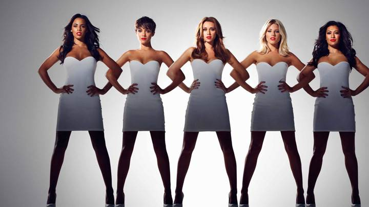 The Saturdays – British-Irish Girl Group In White Dress