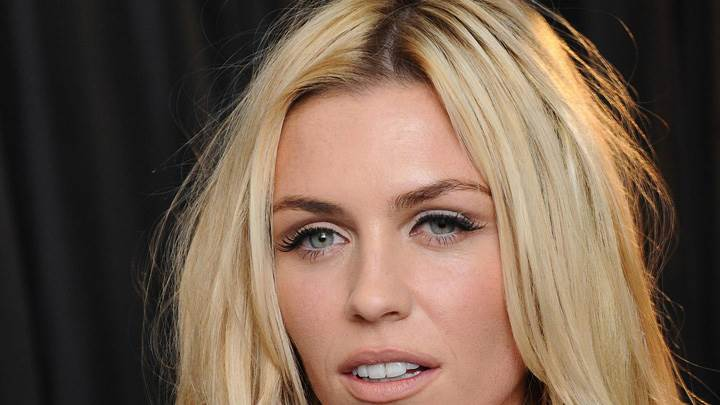 Abbey Clancy Golden Hairs N Cute Eyes Face Closeup