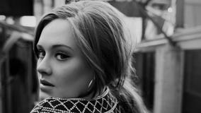 Adele Looking Back In Black And White