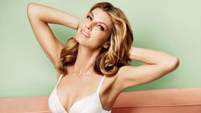Angela Lindvall Smiling In White Bra
