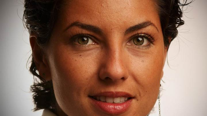 Barbara Mori Big Pink Lips Face Closeup