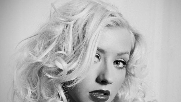 Christina Aguilera Looking Front N Curly Hairs Face Closeup
