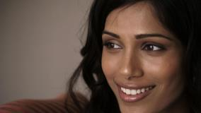 Cute Smiling Freida Pinto Face Closeup