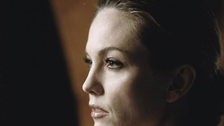 Diane Lane Wet Lips Side Face Closeup