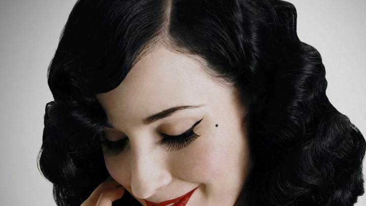 Dita Von Teese Looking Down Closed Eye