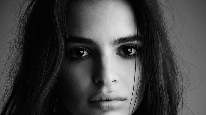 Emily Ratajkowski Black N White Sad Face Closeup