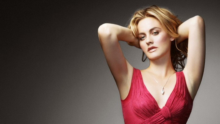 Alicia Silverstone Photoshoot In Red Top