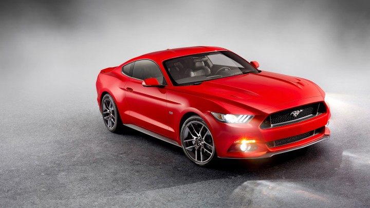 2015 Ford Mustang GT In Red Colour Side Pose