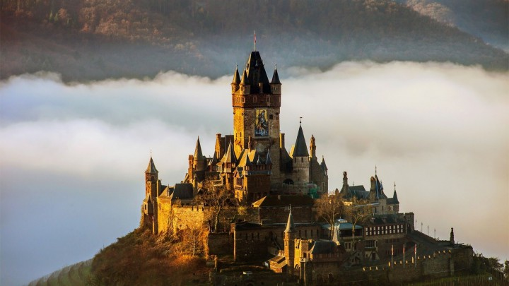 A Fabulous Castle On The Top Of Mountain