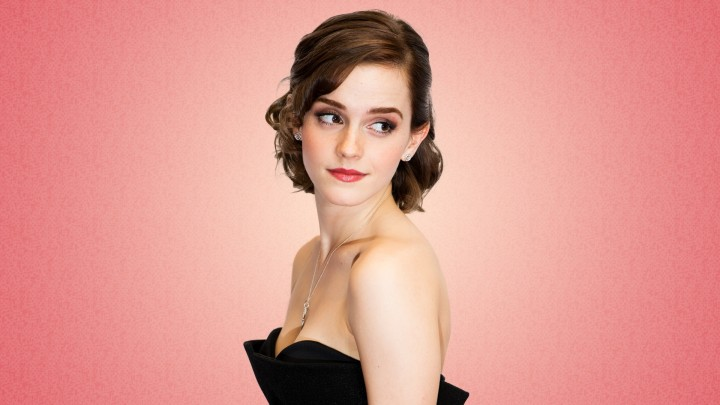 Cute Emma Watson Side Pose Red Lips