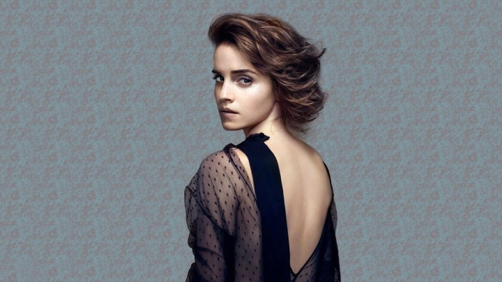 Emma Watson In Black Dress Sad Face