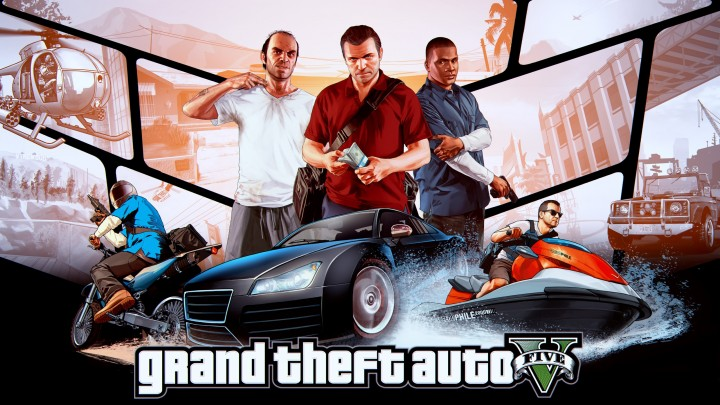 Grand Theft Auto V Game Cover Poster