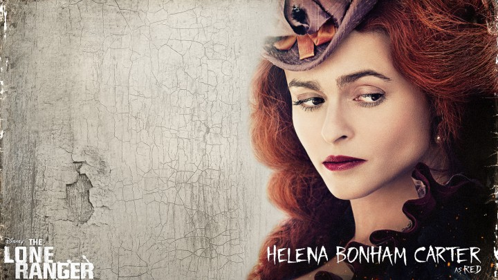 Helena Bonham Carter Face Closeup Dark Red Lips