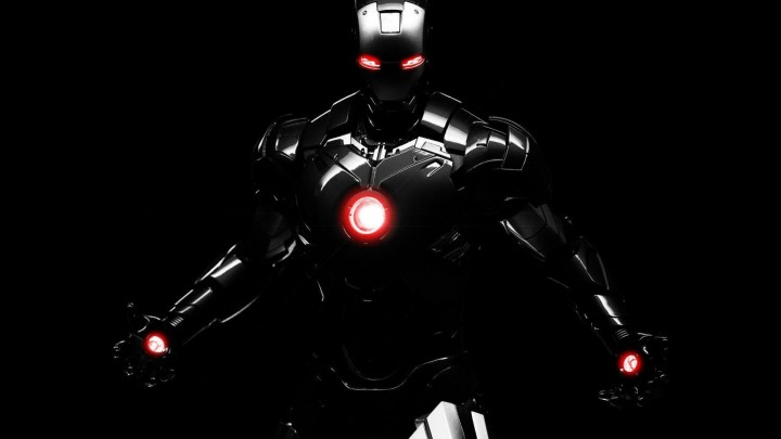 Iron Man Suit In Launching Position In Iron Man 3