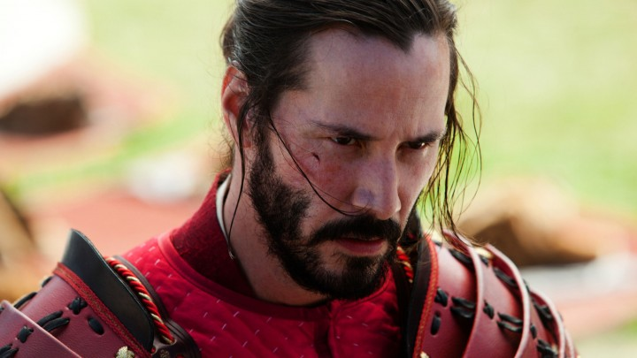 Keanu Reeves In Red Warrior Dress Angry Face In 47 Ronin