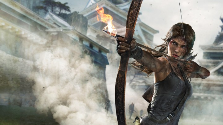 Lara Croft With A Bow In Tomb Raider – Definitive Edition