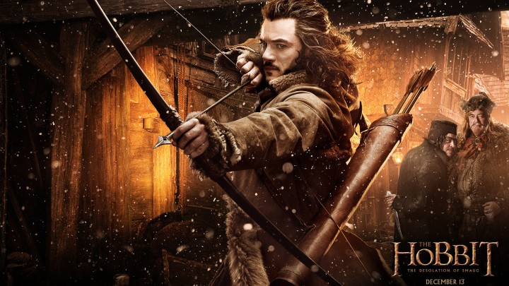 Luke Evans In The Poster Of The Hobbit – The Desolation Of Smaug