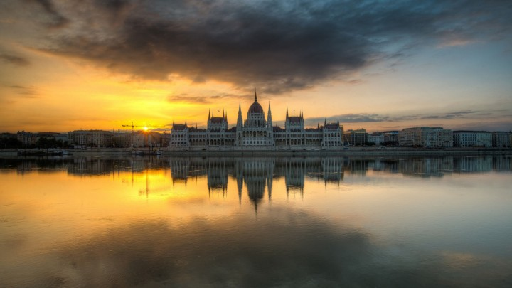 Magnificent View Of Hungarian Parliament Building