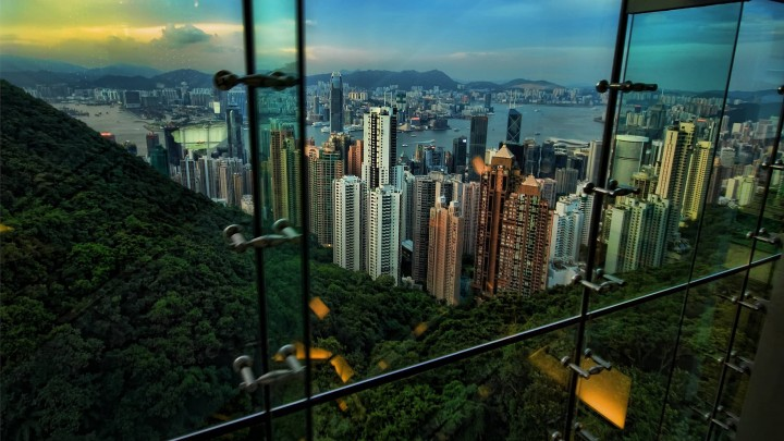 Superb View Of Hong Kong City Through The Window