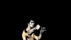 A Sketch Of Bruce Lee Punching Pose