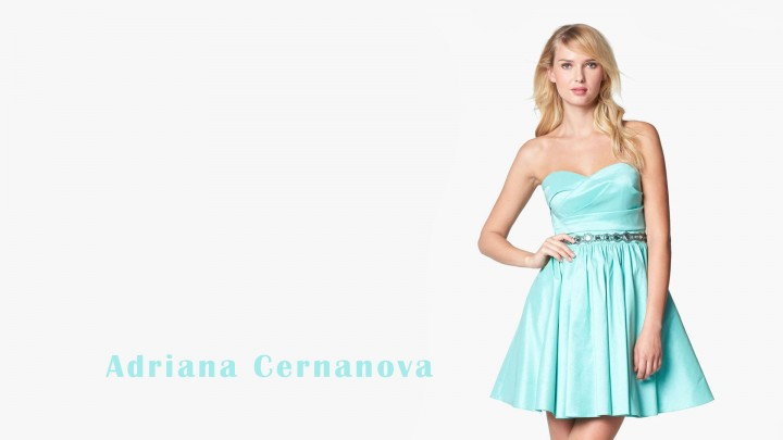 Adriana Cernanova Looking Beautiful In Short Sky Blue Dress
