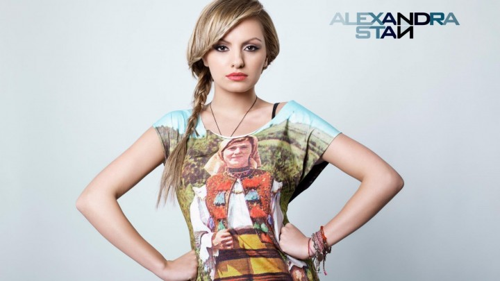 Alexandra Stan Wearing A Traditional Dress