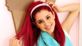 Ariana Grande Playing With Her Red Hair