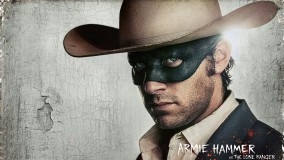 Armie Hammer With Mask And Cow Boy Hat On Head