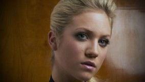 Brittany Snow Face Closeup Cute Eyes Looking In The Camera