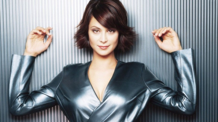 Catherine Bell In Silver Shining Dress