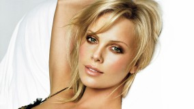 Charlize Theron Face Closeup Little Smile On Face