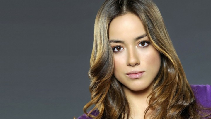 Chloe Bennet Face Closeup Pink Lips Brown Eyes