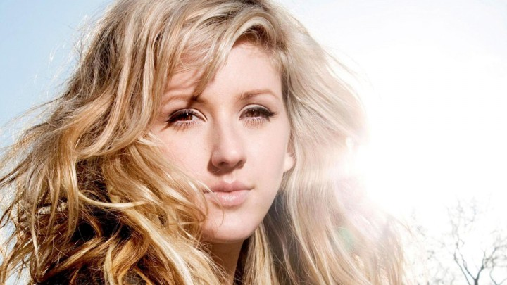 Ellie Goulding Face Closeup Hairs In Air