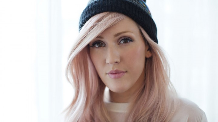 Ellie Goulding Face Closeup Hat On Head