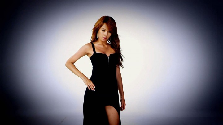 Hyuna In Black Dress Hand On Waist