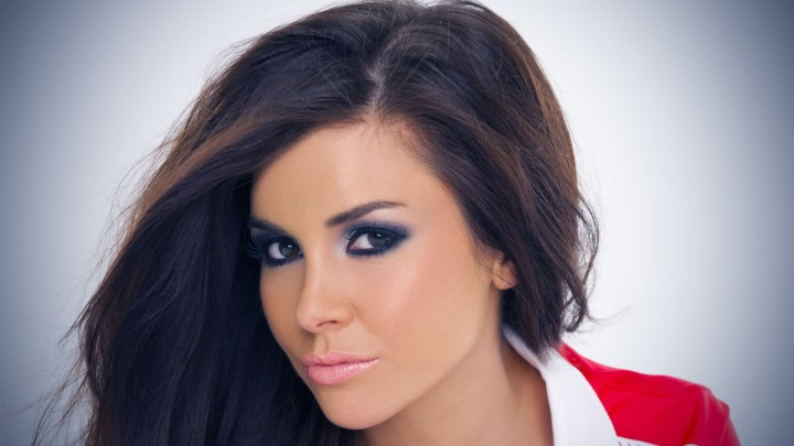 Imogen Thomas Face Closeup Flying Hairs