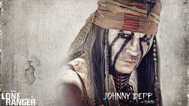 Johnny Depp Angry Look In Movie The Lone Ranger