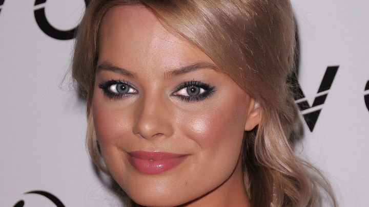 Margot Robbie Face Closeup Looks Like A Barbie