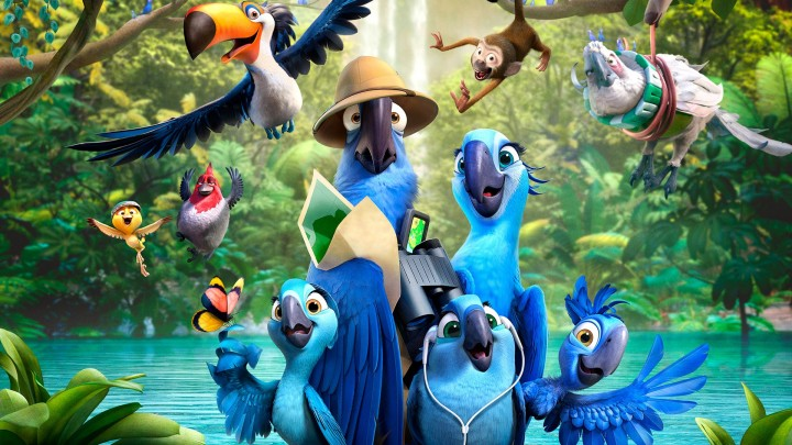 Rio With His All Family In Movie Rio 2