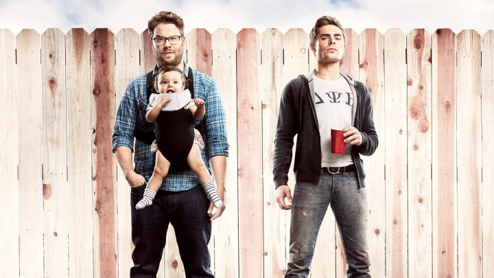 Zac Efron And Seth Rogen With A Kid In Neighbors 2014